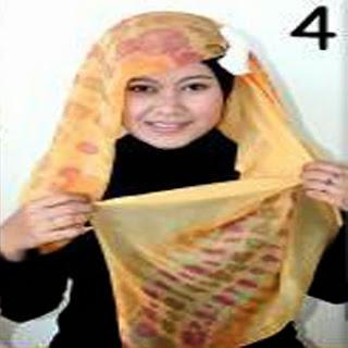 Cara Memakai Jilbab Kreasi Jilbab Paris Segiempat Motif
