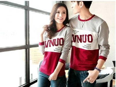 Jual Kaos LP LVNUO Couple Online Murah di Jakarta Lengan Panjang Trendy