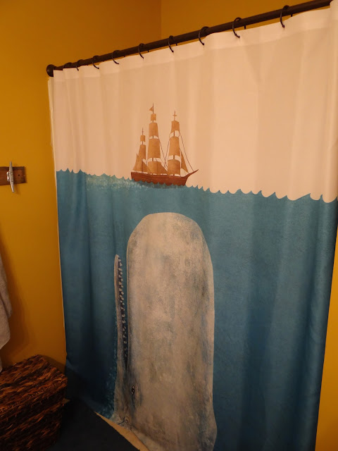 whale shower curtain