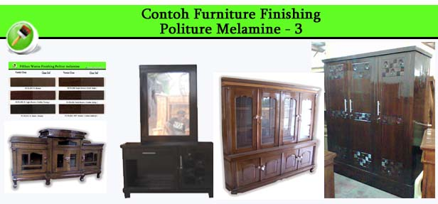 Contoh Furniture finishing Politure Melamine 3