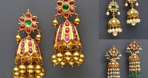 Mangatrai S Pretty Jhumkas Collection Jewellery Designs