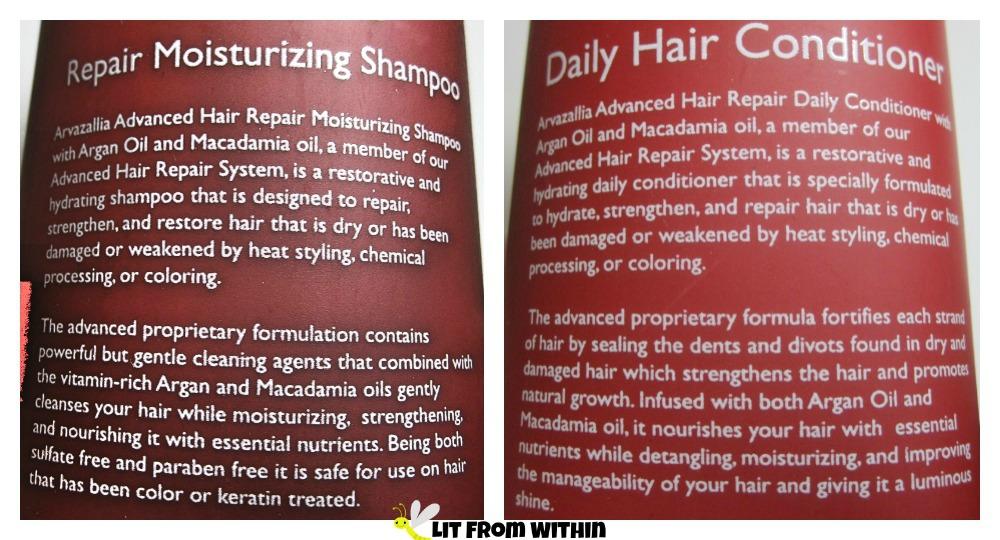 Arvazallia Advanced Hair Repair Moisturizing Shampoo and Daily Conditioner