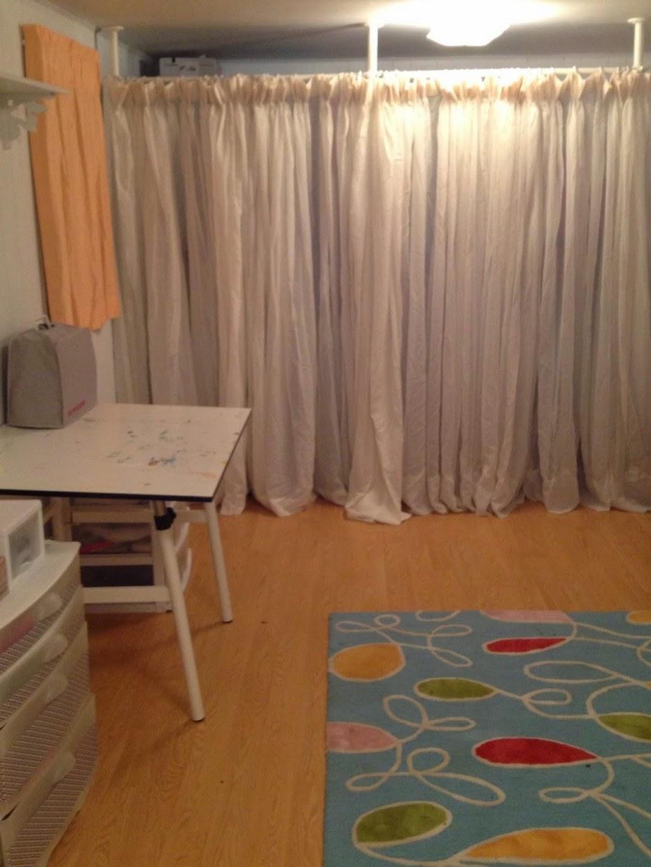 IKEA Room Divider Curtain Laminate Design