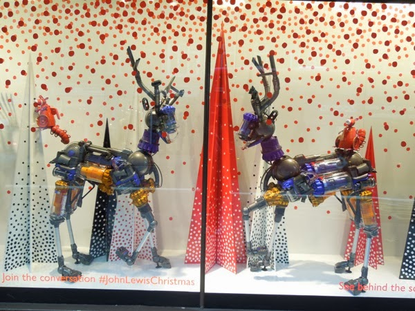 John Lewis Dyson deer Christmas window Peter Jones
