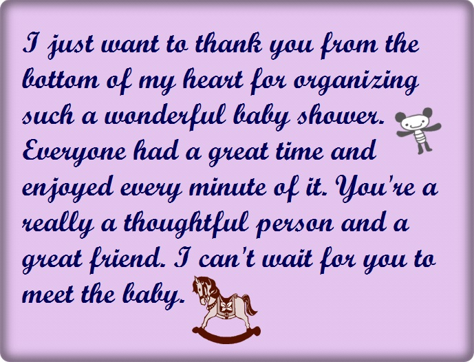 Baby Shower Thank You Wording, Poems And Quotes