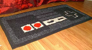 Tapetes bordados na sala de estar