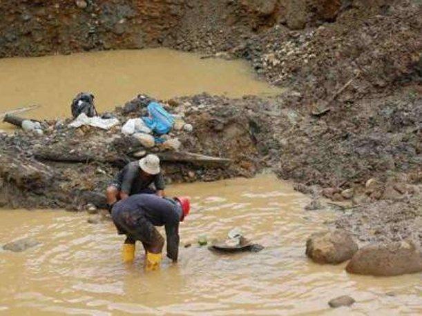 Minería ilegal en Bolivia