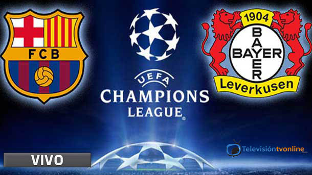 Champions league en vivo: Fc barcelona vs  bayer leverkusen