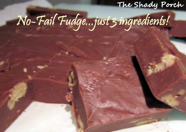 No Fail 3-Ingredient Fudge by The Shady Porch