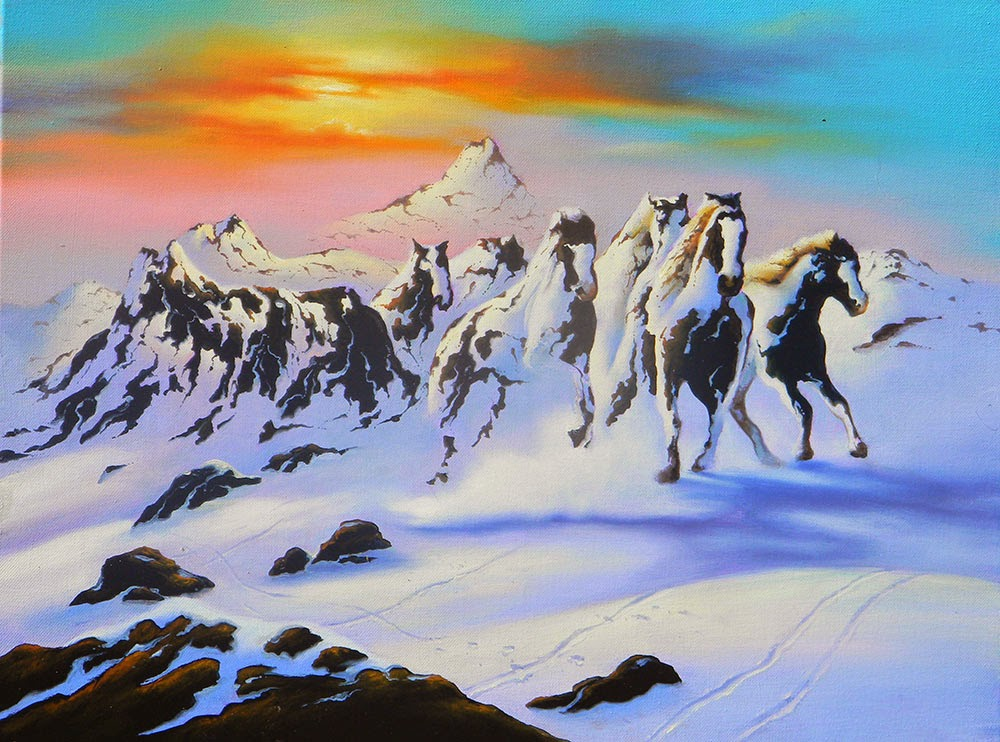 12-Horses-in-the-Snow-Jim-Warren-The-Surreal-Art-of-Dreams-www-designstack-co