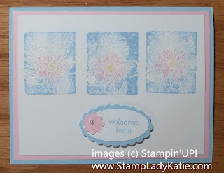 Baby Card made with Stampin'UP! stamp set called Everything Eleanor. By StampLadyKatie