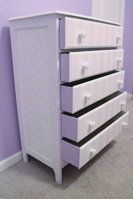 Stenciled Dresser by Callie's Crafts