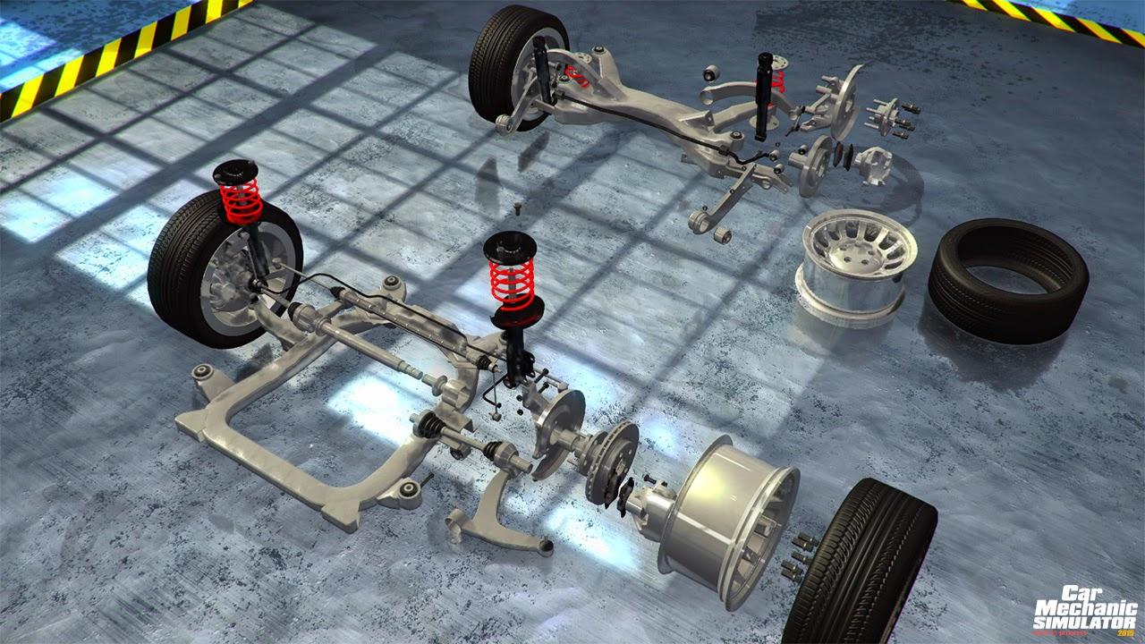 Пружинный зажим и car mechanic simulator где находится