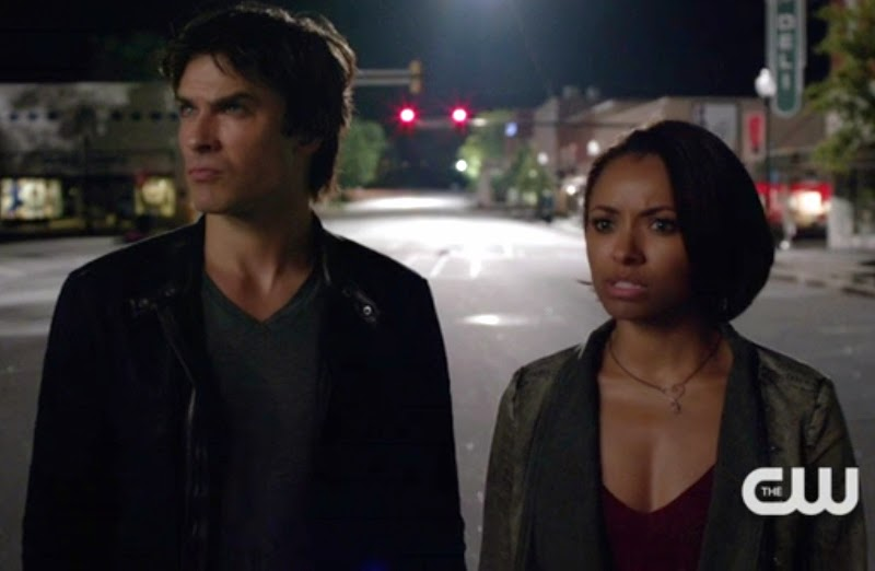 Vampire Diaries Damon Salvatore Ian Somerhalder Bonnie Bennett Kat Graham photos pics premiere reviews