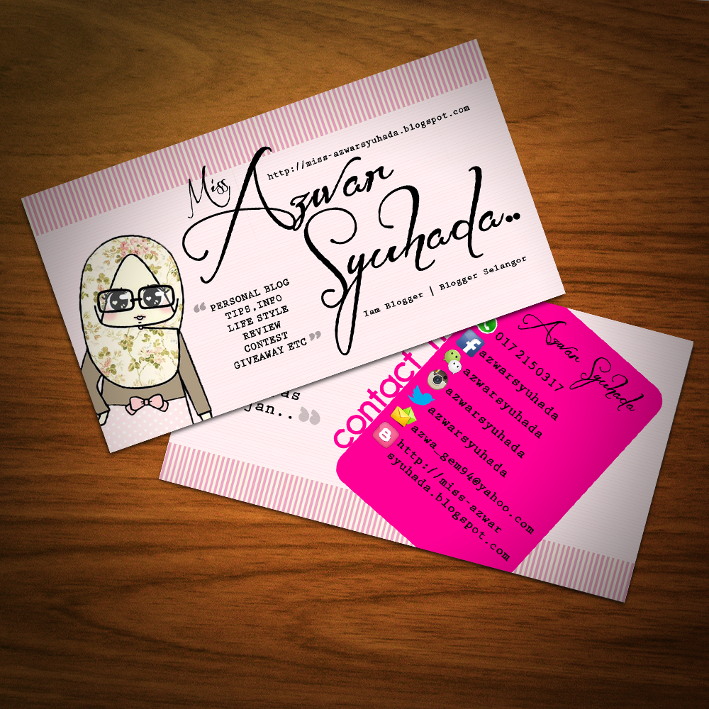 Design Name Card Blogger dan Sticker Bulat Shaklee Printing Service