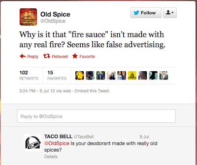 guerra en twitter de old spice y taco bell