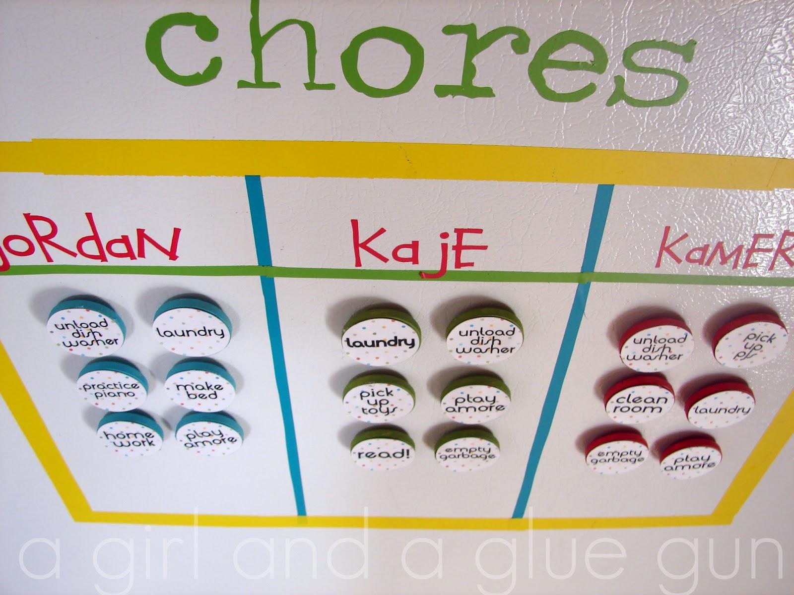 chore chart (knock off!) - A girl and a glue gun