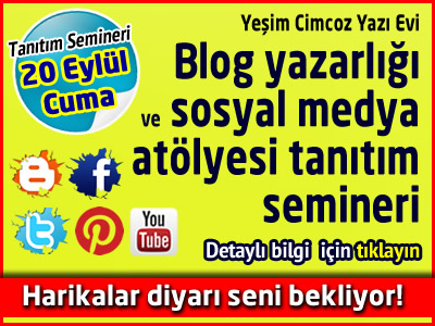 Blog yazarlığı, blog eğitimi ve sosyal medya atölyesi