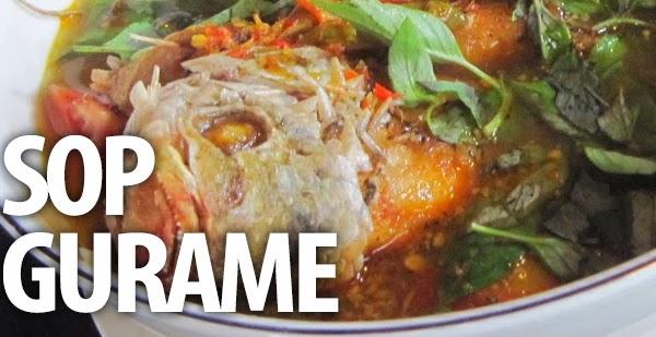 Sup Gurame ini berkuah segar dan kalau suka pedas bisa ditambah cabe..