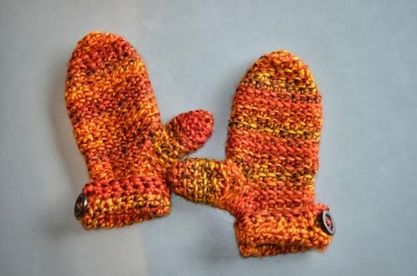 Crochet pattern : mittens