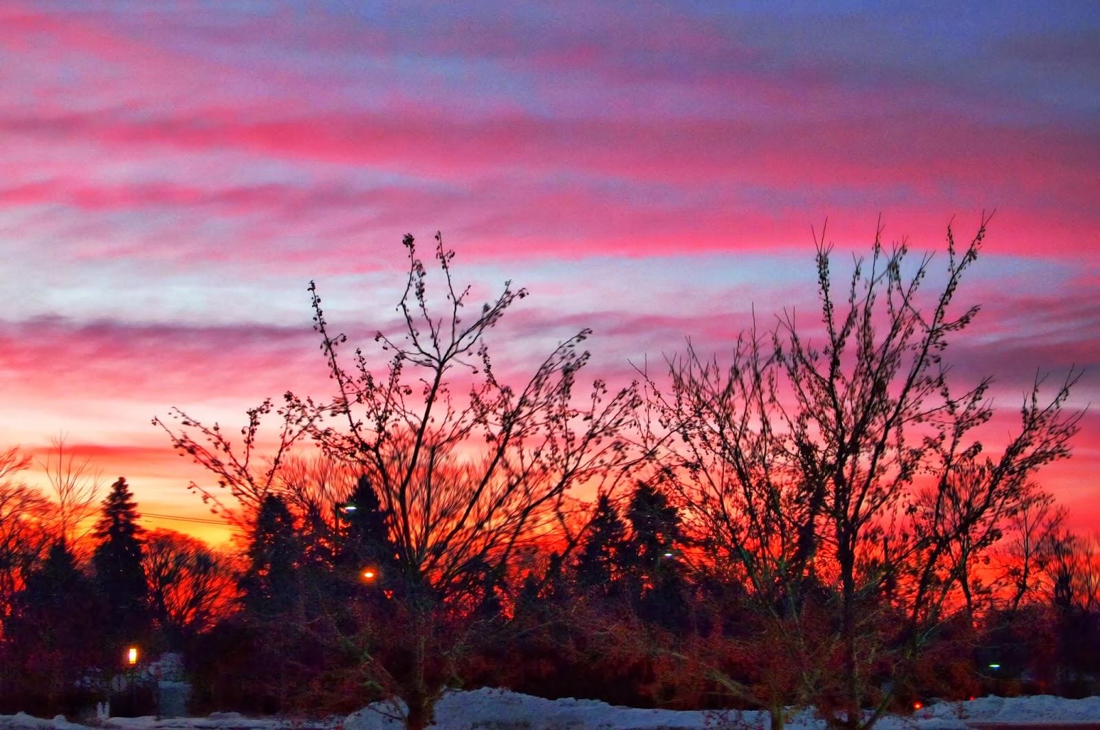 pretty winter sunrise