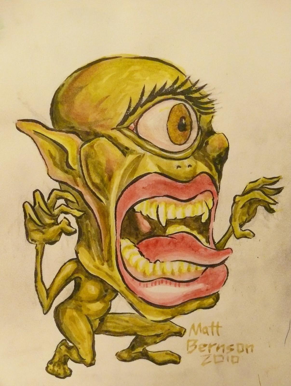 the work of artist matt bernson open mouth monster fangs