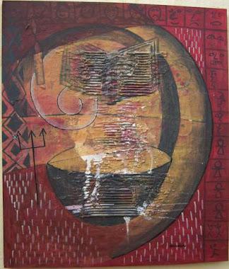 A LA QUÊTE DU BONHEUR,2012,80x70 Cm,acrylic on canvas
