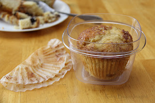 Giant Muffin in a food container.