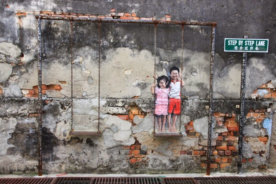 The Best Examples Of Street Art In 2012 And 2013 - By Ernest Zacharevic, Penang, Malaysia