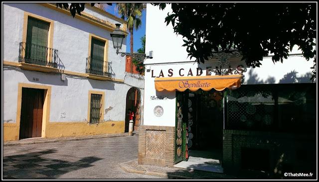 Séville Sevillarte centre artisanal proche Real Alcazar