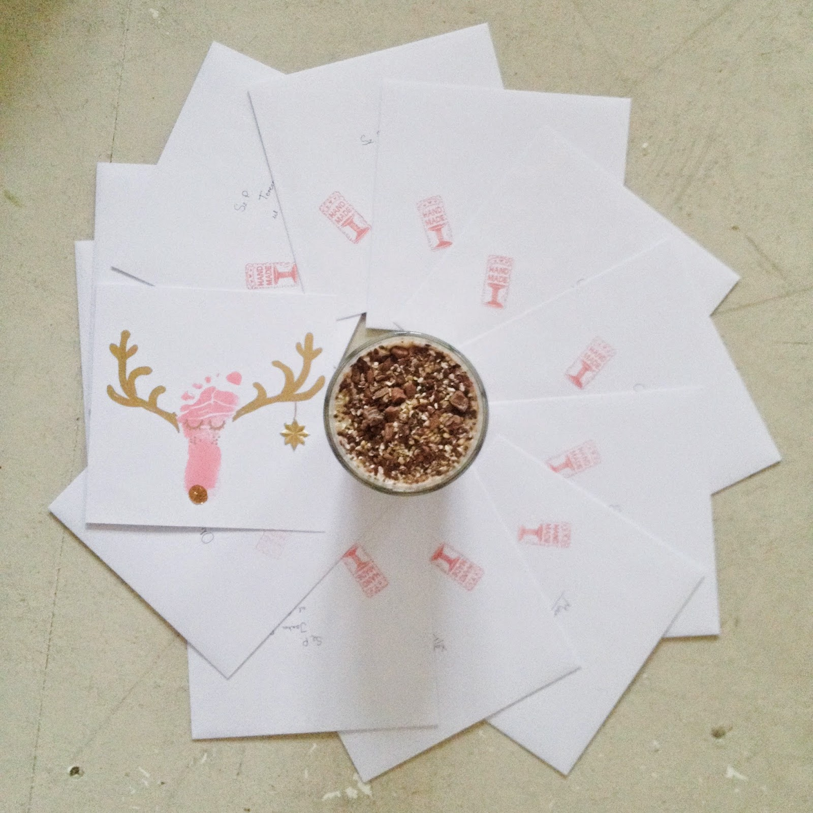diy christmas card reindeer foot baby feet to make