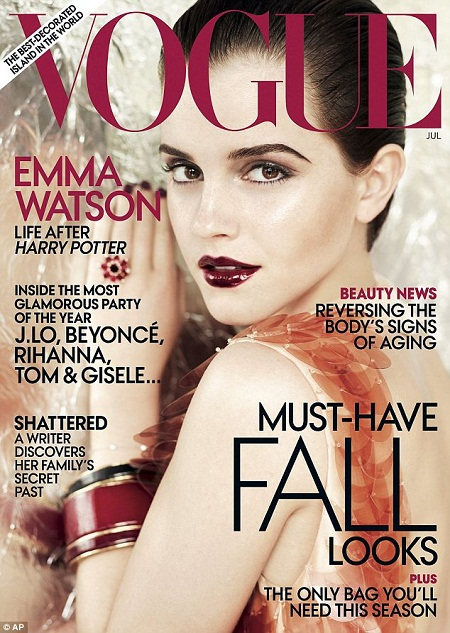 Emma Watson on U.S. Vogue Magazine, July 2011