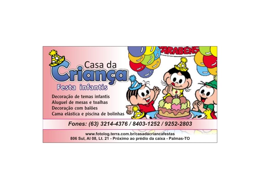 CASA DA CRIANÇA FESTAS PALMAS TOCANTINS