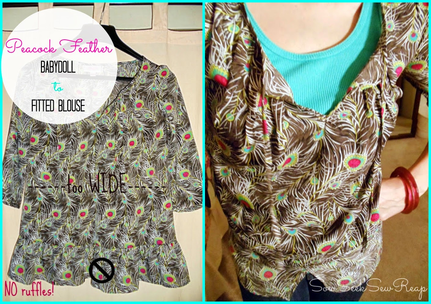 BABYDOLL BLOUSE, DIY FITTED BLOUSE,