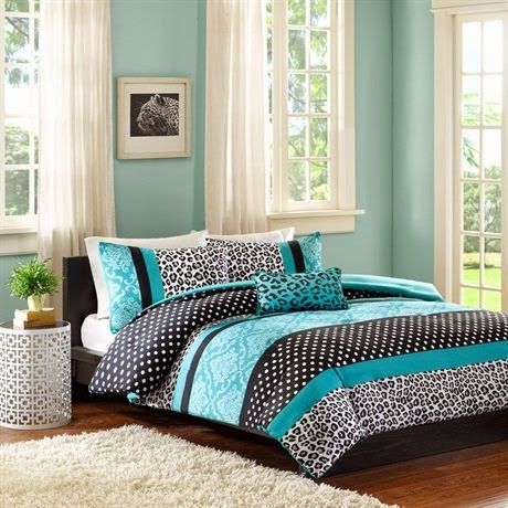 Mizone Chloe Comforter Set - Teal - Full - Queen