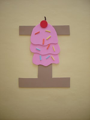 letter i craft is for ice cream