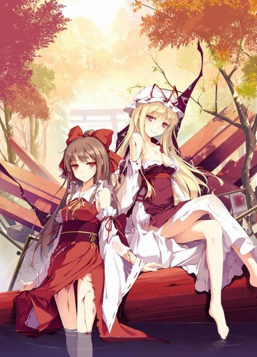 I have the image of a post-barrage Battle of Reimu and purple.