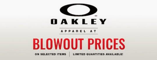 oakley apparel sale
