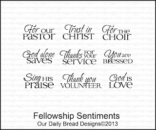 Our Daily Bread Designs, Fellowship Sentiments