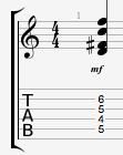 D7#9 guitar chord