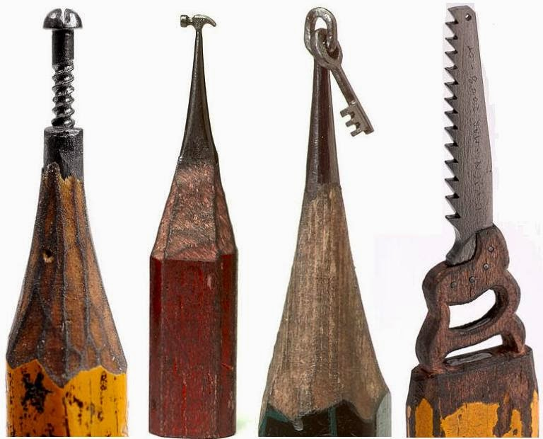 Woudlers best pencil lead carvings