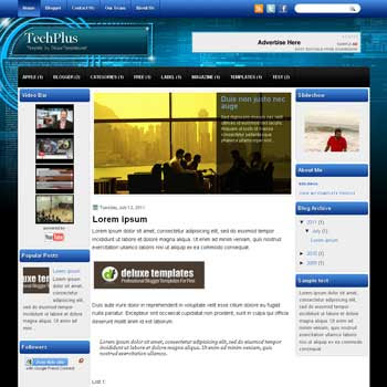 TechPlus blogger template. template blogspot magazine style. download template tech blogger template