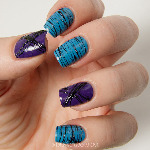 Rescue_Beauty_lounge_Mismas_Faraway_Milani_Black_Swift_Spun_Sugar_Nail_Art_Blue_Skies_Black_death_Skydiving