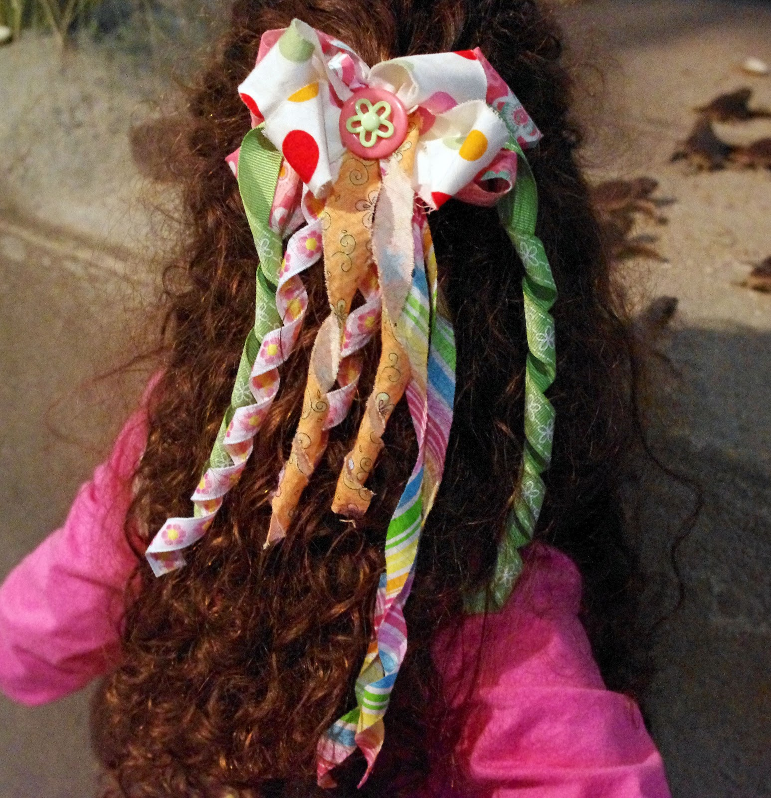 SquigglyTwigs Designs Tuesdays Tute Curled Fabric Ribbon