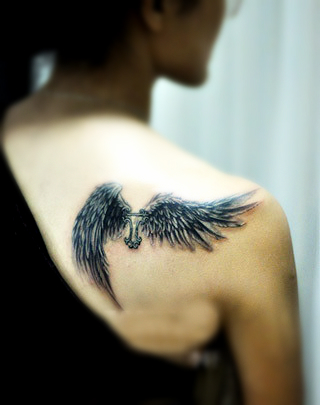Angel Wing Tattoos Women