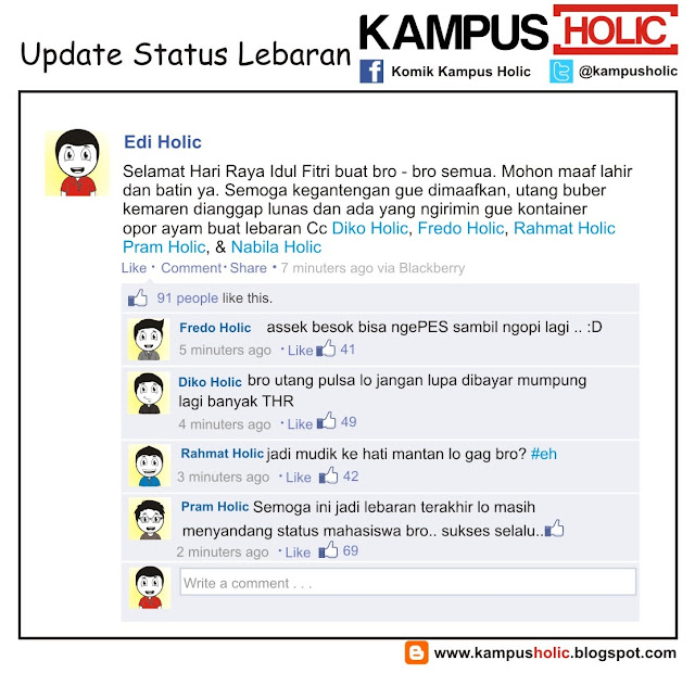#227 Update Status Lebaran MAHASISWA KOMIK KAMPUS HOLIC