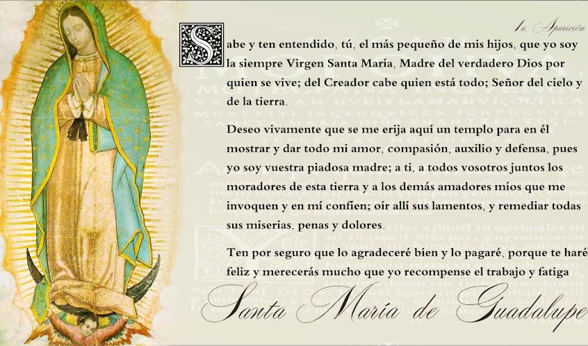Las Promesas de la Virgen María a la humanidad bajo la Advocación de Nuestra Señora de Guadalupe.