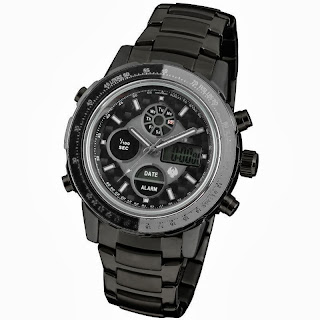 INFANTRY Multi-Function Digital LCD ARMY Stainless Sport 22.5CM Mens Wrist Watch