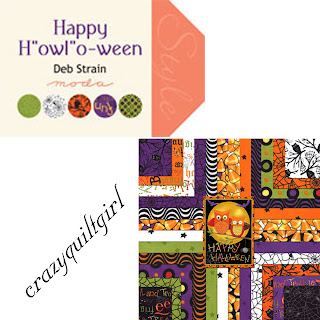 Moda HAPPY HOWLOWEEN Quilt Fabric by Deb Strain