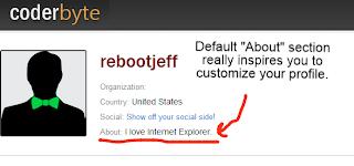 coderbyte.com default profile